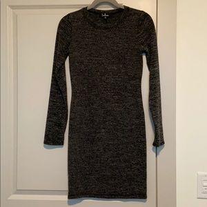 Lulu's Long-Sleeve Tight Sweater Dress